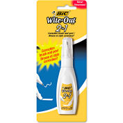 BIC® Wite-Out 2 in 1 Correction Fluid, 15 ml Bottle, 1 Each