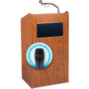 Oklahoma Sound Aristocrat Sound Podium / Lectern with Wireless Handheld Mic, Medium Oak