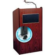 "Oklahoma Sound Aristocrat Sound Lectern w/ Wireless Tieclip/Lavalier Mic 25"" x 20"" x 46"" Mahogany"