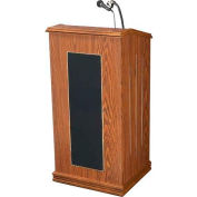 The Prestige Lectern with Sound - Medium Oak