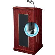 """Oklahoma Sound Prestige Sound Lectern w/ Wireless Tieclip/Lavalier Mic 22""""W x 18""""D x 47""""H Mahogany"""