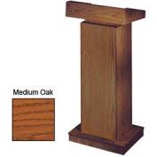 The Orator Height Adjusting Podium / Lectern without Sound - Medium Oak
