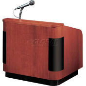 Veneer Sound Table Top Contemporary Lectern - Mahogany