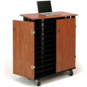 OK Sound Laptop Charging Storage Cart Holds 24 Laptops