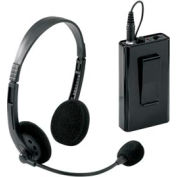 Wireless Headset Microphone for Portable Wireless PA with Rechargeable Battery
