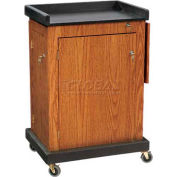 Smart Cart Lectern - Medium Oak