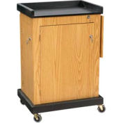 Smart Cart Lectern - Light Oak