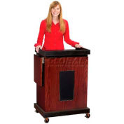 Smart Cart Lectern with Sound - Mahogany