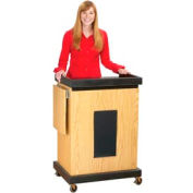 Smart Cart Lectern with Sound - Light Oak