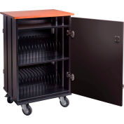 "Oklahoma Sound TCSC-32 Tablet Charging & Storage Cart For 32 Tablets, 36-1/4""H x 18-1/4""D x 23-1/4""W"