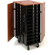 "Oklahoma Sound TCSC Tablet Charging & Storage Cart For 24 Tablets, 43-1/4""H x 24""D x 20""W"
