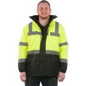 Utility Pro™ Hi-Vis Parka Jacket, ANSI Class 3, 2XL, Yellow/Black
