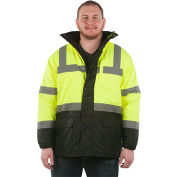 Utility Pro™ Hi-Vis Parka Jacket, ANSI Class 3, 3XL, Yellow/Black