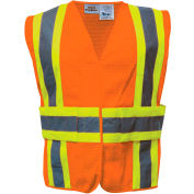 Utility Pro™ Hi-Vis Tearaway Vest, ANSI Class 2, L/XL, Orange