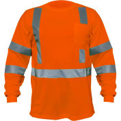 Utility Pro™ Hi-Vis L/S Pocket T-Shirt, ANSI Class 3, 3XL, Orange