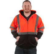 Utility Pro™ Hi-Vis Hooded Soft Shell Jacket, ANSI Class 3, XL, Orange/Black