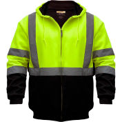 Utility Pro™ Hi-Vis Hooded Soft Shell Jacket, ANSI Class 3, XL, Yellow/Black