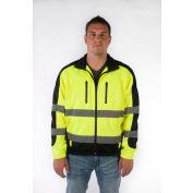 Utility Pro™ Hi-Vis Full Zip Jacket, ANSI Class 3, 2XL, Yellow/Black
