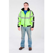 Utility Pro™ Hi-Vis Waterproof Jacket, ANSI Class 3, XL, Yellow/Black