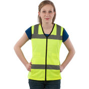 Utility Pro™ Hi-Vis Nylon Ladies Vest, ANSI Class 2, L, Yellow