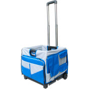 Olympia Tools Pack-N-Roll® Folding Cart 85-506 - 48 Pockets, 50 Lb. Capacity, Blue