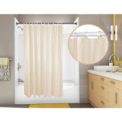 "Omnimed 10 Gauge Aquaguard Vinyl Shower Curtain, 72"" x 72"" Champagne - 155005-CH"