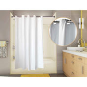 "Omnimed PreHooked 8 GA Vinyl Shower Curtain, 71"" x 74 White - 155020-WH"