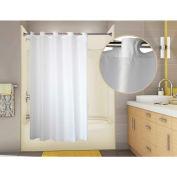 """Omnimed PreHooked 200 Denier Nylon Shower Curtain, 71"""" x 74"""" White - 155025-WH"""