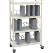 Omnimed® Standard Vertical Open Chart Rack, 30 Binder Capacity, Beige