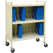"Omnimed® Omnicart Standard Cabinet Vertical Chart Rack, 43-3/4""H, 20 Capacity, Beige"