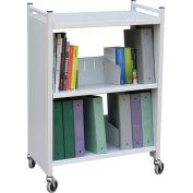 Omnimed® Carrier Transport Cart, 100 lbs Capacity, Light Gray