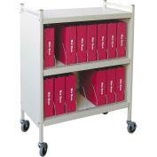 "Omnimed® Omnicart Big Beam Cabinet Vertical Chart Rack, 43-3/4""H, 16 Capacity, Woodgrain"