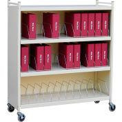 """Omnimed® Omnicart Big Beam Cabinet Vertical Chaart Rack, 55-1/8""""H, 36 Capacity, Beige"""