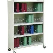 "Omnimed® Omnicart Big Beam Cabinet Vertical Chart Rack, 70-1/8""H, 48 Capacity, Light Gray"