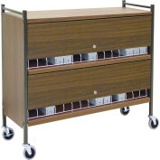 """Omnimed® Omnicart Cab 30 Cap W/Locking Panel, Woodgrain, 49-3/4""""W x 17""""D x 43-3/4""""H"""