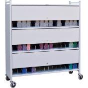 "Omnimed® Omnicart Cab 45 Cap W/Locking Panel, Light Gray, 49-3/4""W x 17""D x 55-1/8""H"