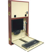 Omnimed® Wood Frame Premier Informatics Work Center, Electronic Lock, Beige/Oak