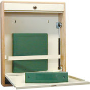 Elite Wall Desk, Single Size, Self-Close, Oak