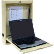 Omnimed® Laptop Wall Desk, Key Lock, Beige