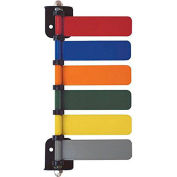 "Omnimed® 6-Flag Room ID System, 4""W Aluminum Flags, Assorted Colors"