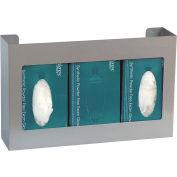 "Omnimed® Omni Triple Glove Box Holder, Stainless Steel, 16""W x 3-3/4""D x 10""H, 1/PK"