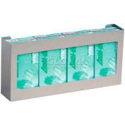 "Omnimed® Omni Quadruple Glove Box Holder, Stainless Steel, 21""W x 3-3/4""D x 10""H, 1/PK"
