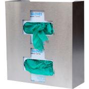 Omnimed® 305336 Stainless Steel Double Glove Box Holder, Medical Cross Design, 1/PK