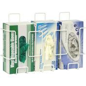 Omnimed® Deluxe Triple Wire Glove Box Holder, White, 1/PK
