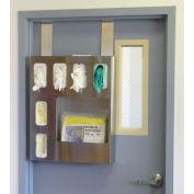 "Omnimed® Door Hanger Brackets, 3""W x 1.75""D x 13""H, Stainless Steel, 2/Pack"
