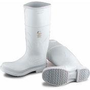 """Dunlop Men's Boot, 14"""" White Plain Toe W/Safety Lock, PVC, Size 11"""