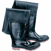 "Onguard Men's, 35"" Hip Wader Black Plain Toe W/Cleated Outsole, PVC, Size 8"