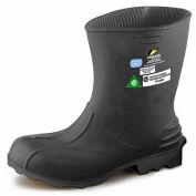 "Onguard Men's Boot, 11"" Hazmax EZ-Fit Green/Yellow, Steel Toe/Mid-sole, PVC, Size Medium"