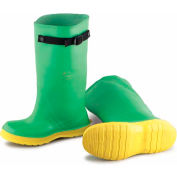 """Onguard Men's Overboot, 17"""" Haxmax Strapper Green/Yellow Overboot, PVC, Size 14"""