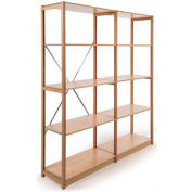 """Excalibur Finished Display Shelving, AB6124884, 48""""W X 12""""D X 84""""H, All Wood, 6-Shelf-Add On"""